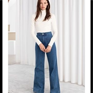 &others stoties flare midi rise jeans